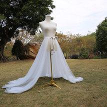 WHITE Detachable Tulle Skirt White Tulle  Open Skirt Wedding Photo Tulle Skirt  image 2