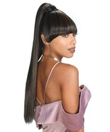 Zury Miss Bang Blunt Ponytail Straight Hair 2Pcs Extension Hairpiece Lon... - $21.95