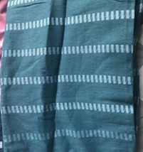 DKNY COLOR STITCH FABRIC TEAL Blue  70 x 72 SHOWER CURTAIN  NEW Ombre - $17.99