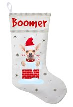 Chihuahua Christmas Stocking - Personalized Chihuahua Stocking - White - $29.99