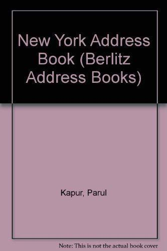 Primary image for The New York City Address Book (Berlitz Cityscope) Kapur, Parul