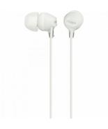 SONY Stereo Headphones MDR-EX15LP White NIP - $8.79
