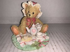 Cherished Teddies Figurine Marie Friendship Is A Special Treat 1992 #910767 - $7.50
