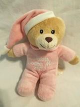 2011 Dan Dan Easter Jesus Loves Me Bear Plush Stuffed Animal Pink - $27.70