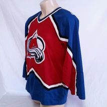 Colorado Avalanche CCM Hockey Jersey NHL Throwback VTG Authentic Mens Size Large image 7