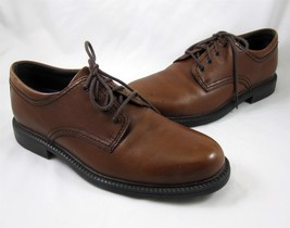 Rockport Capital Mens Dress Casual Shoes 8M Brown Leather Upper Lace Up - $39.99