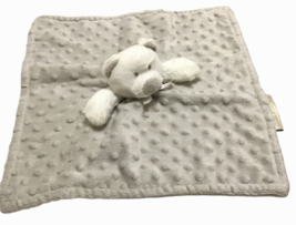 Blankets & Beyond Gray White Teddy Bear Baby Lovey Security Blanket Plus... - $29.69