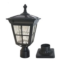 Kemeco ST4311AQ LED Cast Aluminum Solar Post Light Fixture with 3-Inch F... - $126.50