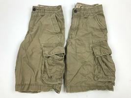 2 Pair American Eagle Khaki Distressed Snaps Cargo Shorts Casual Board 28 (30) - $44.55