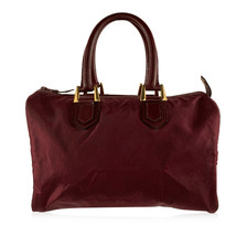Authentic Christian Dior Bagages Vintage Burgundy Logo Canvas Boston Bag - $257.40