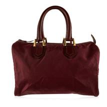 Authentic Christian Dior Bagages Vintage Burgundy Logo Canvas Boston Bag - $257.40