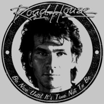 Road House T-shirt Be Nice retro 1980s movie vintage 100% cotton grey tee image 2