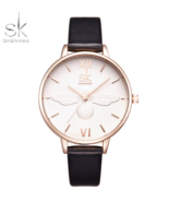 SK® Women's Fashion Luxury Brand Leather Strap Dress Watch Casual Quartz... - $16.88