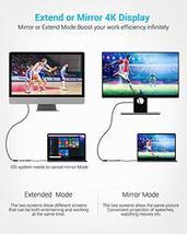 USB C Hub, Type C Hub EUASOO 8 in 1 Adapter with 4K HDMI, 3 USB 3.0 Ports, USB 2 image 4