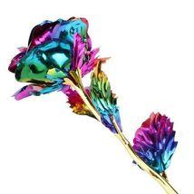 Rose Flower Multi-Color Plated Rose Romantic Valentine Day - 1 x Random Color image 5