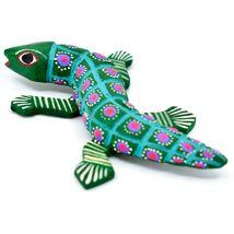 """Handmade Alebrije Oaxacan Wood Carving Painted Folk Art Alligator 3.25"""" Figurine image 3"""