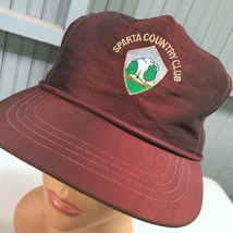Sparta Illinois Country Club Golf Strapback Baseball Cap Hat Made In USA - $22.95