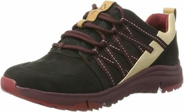 Clarks TRI TRAIL BLACK Leather Nubuck Women's Athletic Sneakers 26808 - $80.00
