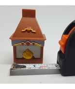 Disney Dollhouse Miniature Furniture Brown Plastic Fireplace for play pr... - $7.66