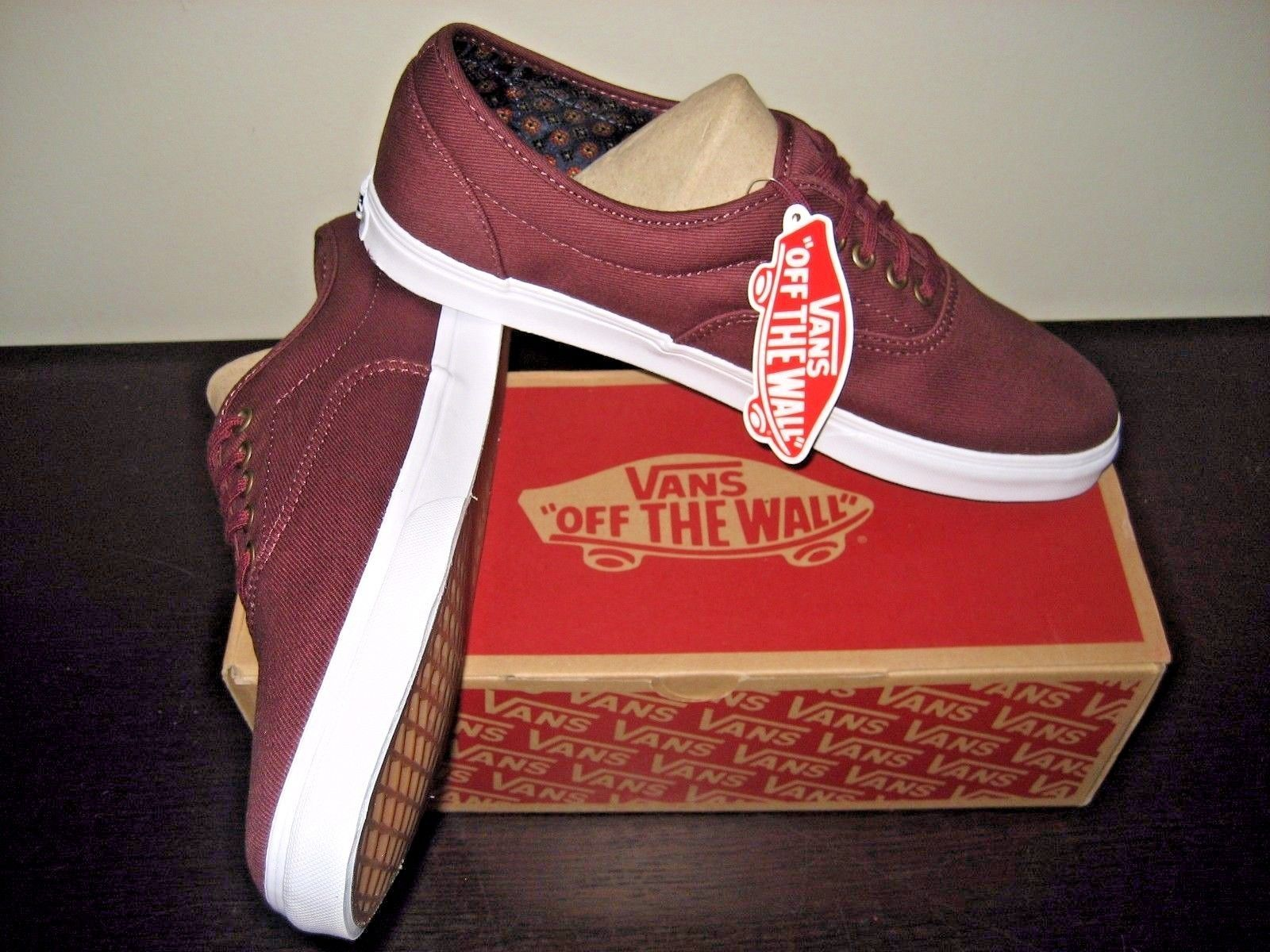 d1b1f7d139 Vans Mens LPE Geo Suiting Port Royale Twill Canvas Skate Boat Shoes Size 11  NWT