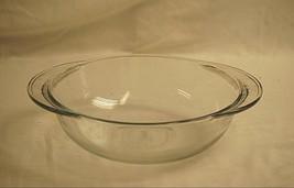 "Anchor Hocking Clear Glass 2 Qt. Round 9-1/2"" Casserole Baking Bowl Dish... - $19.79"