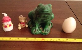 Vintage Lot of Figural Christmas Candles Frog Egg More - $8.91