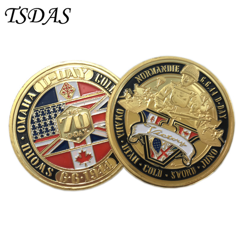 Primary image for The Normandy Invasion 70th Anniversary Gold Coins Round USA Military Coins
