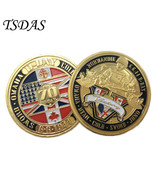 The Normandy Invasion 70th Anniversary Gold Coins Round USA Military Coins - $5.50