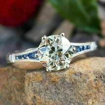 2.10Ct Round Cut VVS1 White Diamond Engagement Ring in Solid 14K White Gold - €242,50 EUR