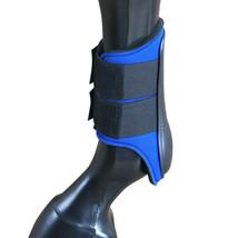 Large Hilason Western Horse Tack Protective Pvc Ankle Leg Boot Blue U-311L - $21.95
