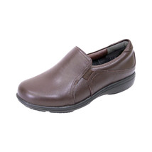 24 HOUR COMFORT Therese Women Adjustable Wide Width Leather Everyday Loafer - $71.95