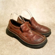 GBX Mens  S14 Sz 7.5 Brown Leather Slip On Clogs Loafers - $19.99