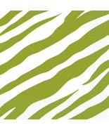 Avocado Zebra Stripe Animal Print Jungle Safari Theme Party Beverage Nap... - $8.17