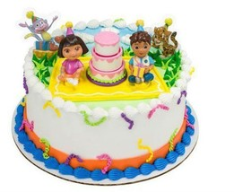 Dora the Explorer - Birthday Celebration DecoSet Cake Decoration Brand NEW - $3.16