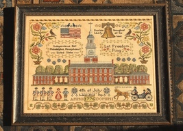 Let Freedom Ring patriotic chart by Lila's Studio  - $21.60