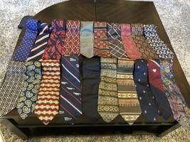 Tommy Hilfiger,Van Heusen and more lot of 18 Assorted Silk Neckties Multi-Color  image 8