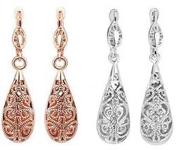 Luxury Women Fashion Golden Plated Drop Earring Wedding Party Earrings - $18.48+