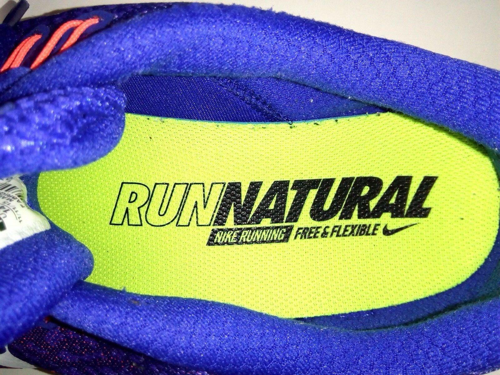 Nike Free RN Distance Mens Sneakers 14 Blue/Orange Run Athletic Shoes 827115 402