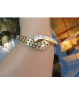 18k Diamond Bangle Bracelet 4 CTTW White Baguettes E F Round 40g Yellow ... - $16,825.05