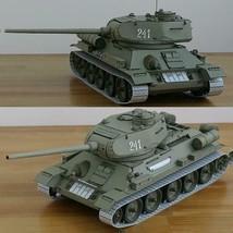 1:25 Soviet T-34 Medium Tank Paper Model T-34/85 Manual DIY - $39.60