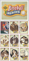 TED WILLIAMS BASEBALL HEROES TEN CARD SET +HOLO GRAM NM/MT - $5.00