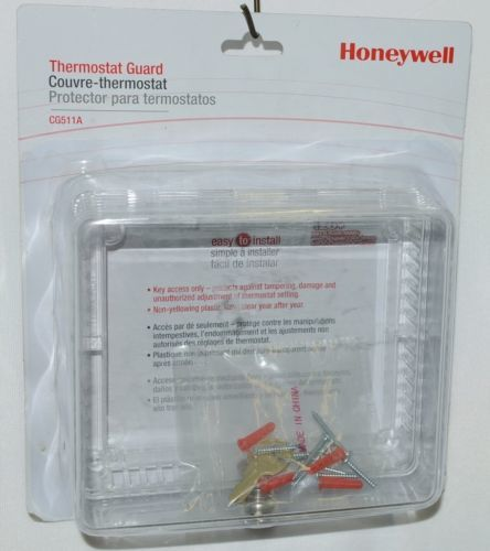 Honeywell CG511A Thermostat Guard Hardware and Keys Color Clear