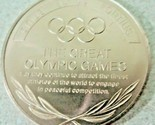 MUNICH GERMANY SAPPORO JAPAN,THE GREAT OLYMPIC MOMENTS  XX OLYMPIAD,TOKEN