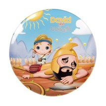 "David And Goliath Round Kids Plate NEW BPA-Free Non-Toxic Durable 7 7/8"" - $8.88"