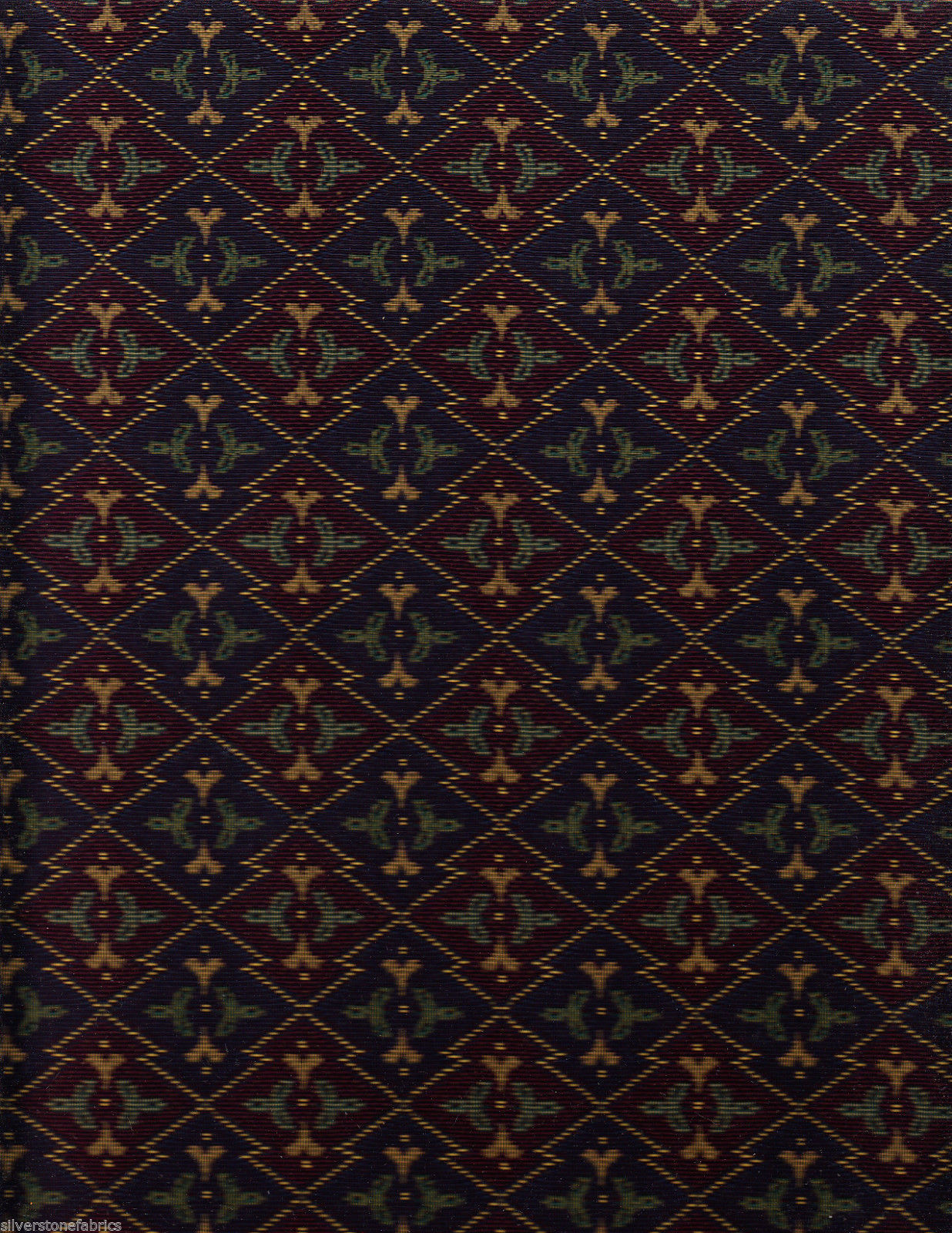 14 yds Imported German Tapestry Upholstery Fabric Alpine Flowers Purple GQ1-c14