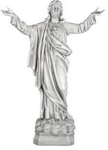 "Jesus Christ Sacred Heart Blessing Christian sculpture statue 30"" - $216.81"