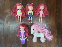"""Strawberry Shortcake Playmates 7"""" Scented Dolls and Pony Lot - $33.85"""