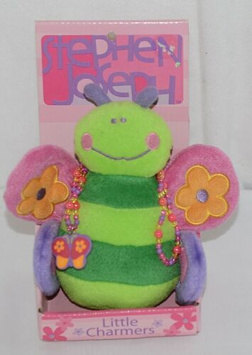 Stephen Joseph Brand Little Charmer Green Pink and Purple Butterfly and Necklace