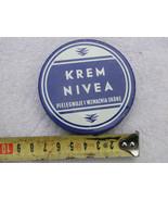Rare Vintage NIVEA Cream Empty Tin Box Polish Version About 1970 - $20.53