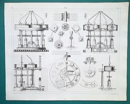 FLOUR MILLS Grinding Mill Stones - 1844 Superb Print - $9.00